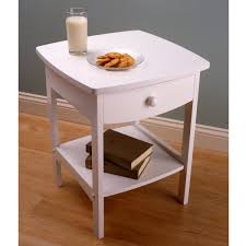 White Wood Furniture Amazon Com Winsome Wood End Table Night Stand With Drawer And