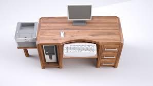 Schreibtisch Mit Computertisch Modena Schreibtisch Computertisch Pc Tisch Massivholz Birke
