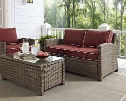 Wicker Loveseat Patio Furniture - birch lane lawson wicker loveseat with cushions u0026 reviews wayfair