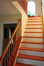 Stairwell Ideas Cute Carpet Plus Wooden Hardwood Stair Treads For Staircase Design