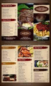 restaurant brochure templates 27 restaurant brochure templates