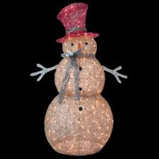 Outdoor Christmas Decorations Home Depot Home Accents Holiday 5 Ft Pre Lit Gold Snowman Ty364 1411 The