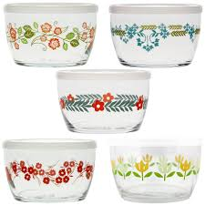 flower storage bowls gift set of 5