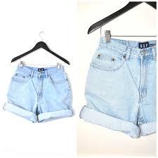 light wash denim shorts 90s rolled up denim shorts vintage 90s grunge light wash pale faded