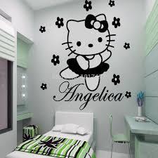 Hello Kitty Bedroom Ideas For Kids Aliexpress Com Buy Hello Kitty Fairy Personalised Name Wall
