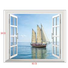 compare prices on sailboat wall sticker mural online shopping buy