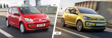 volkswagen old red volkswagen up facelift old vs new compared carwow