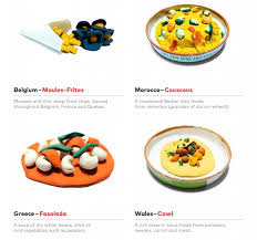 chart 40 national foods from around the world designtaxi