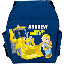 personalized scoop personalized bob the builder scoop blue toddler backpack walmart