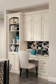 small kitchen desk ideas kraftmaid built in desk with bookcase and cabinets living spaces