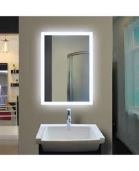 backlit bathroom mirror rectangle 40 x 24 in by paris mirror