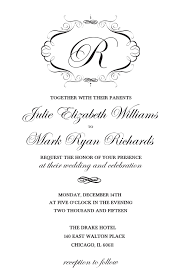 wedding invitations printable print monogram free printable wedding invitations