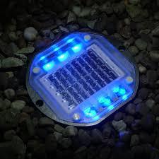 Outdoor Blue Lights Blue Solar Powered Path Light Envirogadget