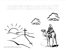 book of deuteronomy sunday coloring pages sunday