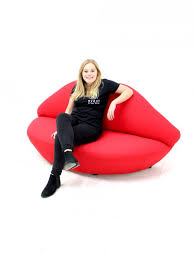 red lip sofa themed furniture hire event prop hire