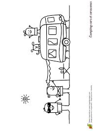 dessin pour enfant à colorier d u0027une famille au camping