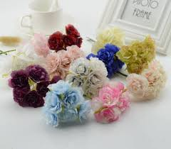 cheap silk flowers 6pcs silk flower roses cheap artificial flowers scrapbooking