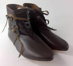 medieval lacing ankle boots ravencrest reenactment