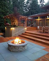 custom outdoor fire pits gorgeous multi level deck this is perfect where the area in the