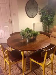 funky retro dining table and 4 chairs habitat style reduced in