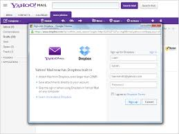 Yahoo Mail Rather Than Recreate Drive Yahoo Integrates Dropbox Into
