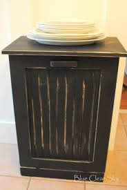 rustic maple distressed black recycling cabinet