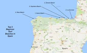 Pais Vasco Map Surf Blog Beginner Surf Beaches Spain