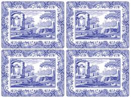 pimpernel blue italian placemats set of 4 spode uk