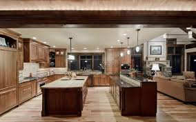 appliances big kitchen design with double kitchen island made of