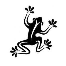 cool simple tribal frog design tattoobite tshirt or