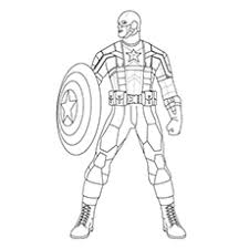 10 Amazing Captain America Coloring Pages For Your Little One Captain America Coloring Page