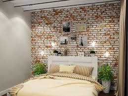 papier peint de chambre a coucher chambre à coucher papier peint brique chambre coucher brique blanc