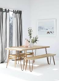 white table with bench dining room table with bench seat make a dining room statement with