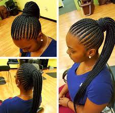 straight back hairstyle nice simple straight back pony via marlyshairbraiding black