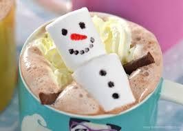 snowman marshmallows hot chocolate with snowman marshmallows eats amazing