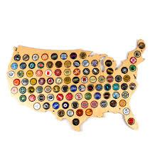 Beer Map Hanging Wooden Usa Beer Cap Map 24
