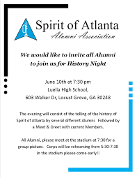 Alumni Meet Invitation Card History Night Spirit Of Atlanta Alumni Association
