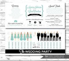 Wedding Program Ceremony Wedding Program Ceremony Program Wedding Party Silhouettes