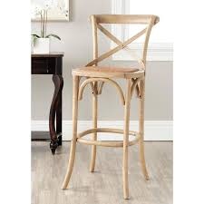 Cross Back Bistro Chair Franklin Weathered Oak 30 Inch Brown Bar Stool