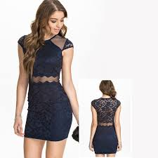 aliexpress com buy fashion ladies patchwork mesh lace dresses