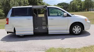 2010 minivan wheelchair van handicap ramp van braun mobility chrysler town
