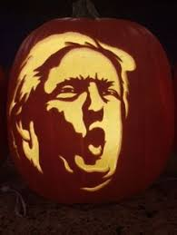 Meme Pumpkin Stencil - crazy donald trump makes an awesomely scary pumpkin carving