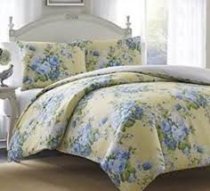 Blue Yellow Comforter Laura Ashley Joyce 3 Twin Comforter Set Floral French Country Blue