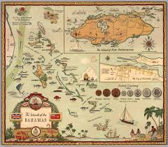 Map Bahamas The Islands Of The Bahamas George Annand David Rumsey