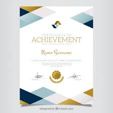 geometric certificate of achievement vector free download