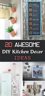 diy kitchen wall ideas 20 awesome diy kitchen decor ideas