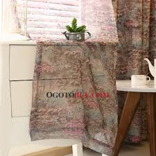 Country Curtains For Living Room Colorful Primitive Poly Cotton Fabric Country Curtains For Living
