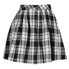 ladies womens elasticated waist tartan skater skirt amazon co uk