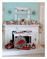 Tall Christmas Mantel Decorations by 523 Best Christmas Mantles Images On Pinterest Christmas Ideas