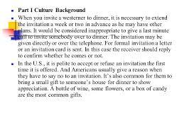 unit six invitation part i culture background part ii functional
